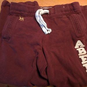 Abercrombie maroon sweat pants